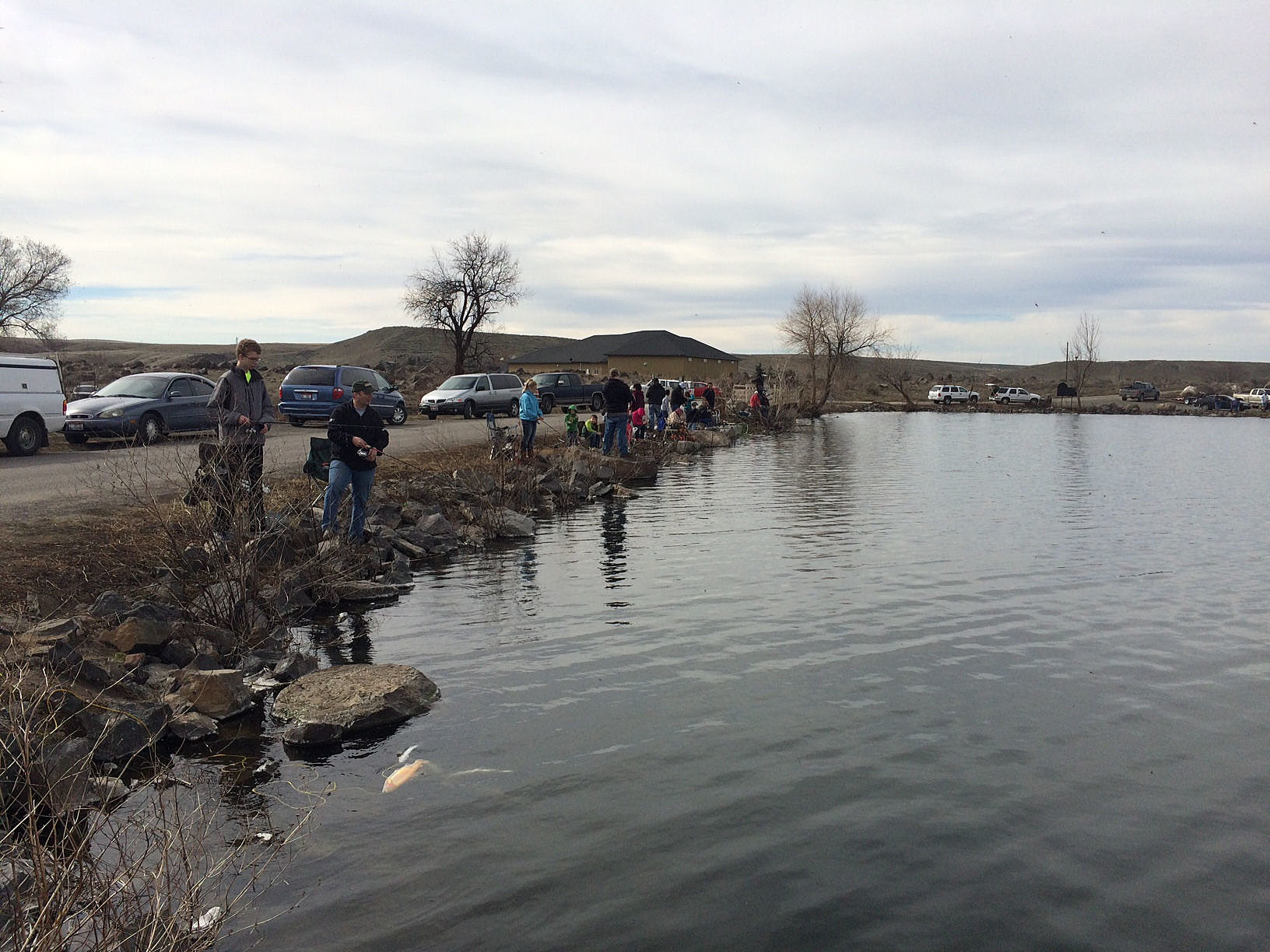 Anglers visit hagerman wma for fishing opener for Idaho dept of fish and game