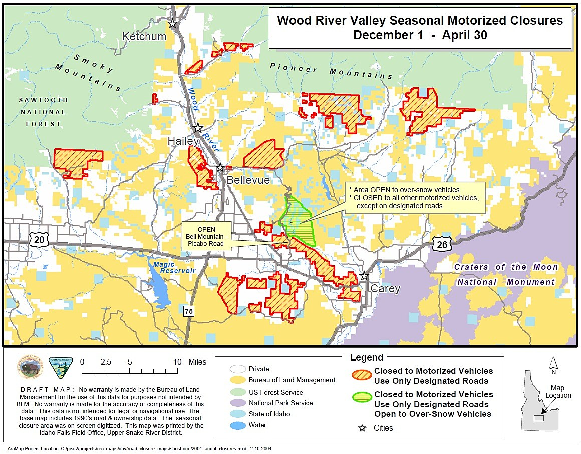 Seasonal closures to begin in the wood river valley for Bureau land management