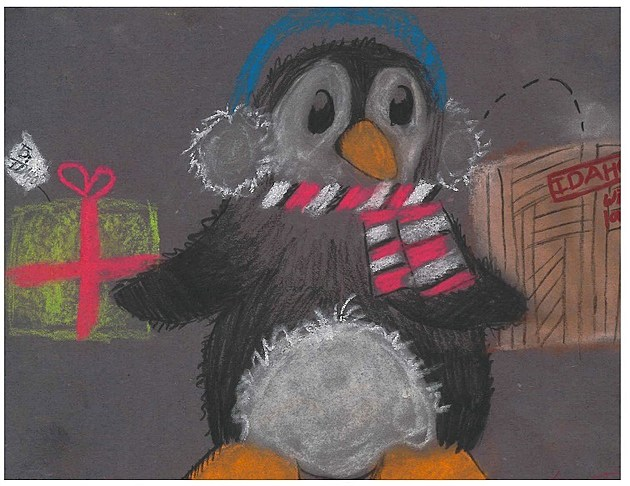 Kylee Thiel, winner of Holiday Card Contest for the Idaho Department of Education