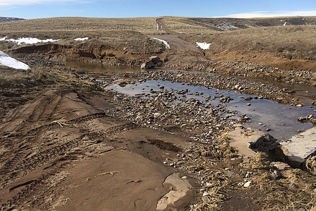 Sailor Creek Crossing washed out. Photo by Bureau of Land Management
