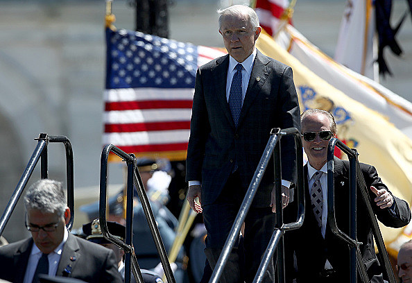 Donald Trump And Jeff Sessions Attend 36th annual National Peace Officers' Memorial Service
